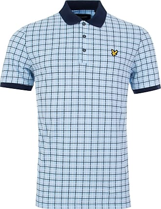 Lyle & Scott Lyle and Scott Mens Check Polo Shirt - XL - Check Out Our New Added Products! Pool Blue
