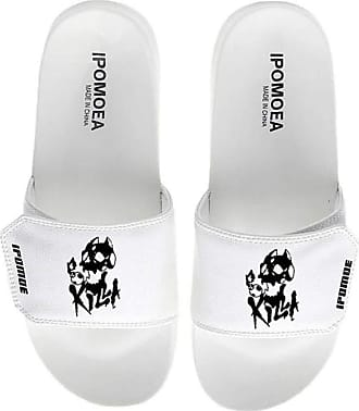 Cosstars JoJos Bizarre Adventure Unisex Anime Slippers Open Toe Sandals Adjustable Hook and Loop 4 / White 290 MM