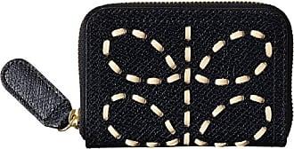 Orla Kiely Leather Laced Stem Medium Zip Wallet in Midnight Blue RRP £115