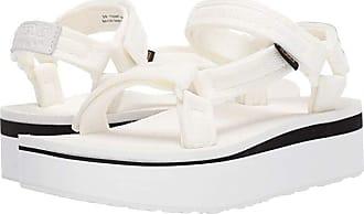 Teva Flatform Universal Mesh Print (Bright White) Womens Shoes
