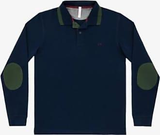 Sun 68 Navy Militar Kontrast-Ellbogen-Polo-Shirt - cotton | navy | xxl - Navy