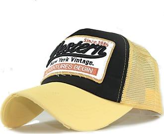 QUINTRA Embroidered Summer Cap Mesh Hats for Men Women Casual Hats Hip Hop Baseball Caps (Yellow)
