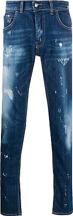 Frankie Morello Calça jeans slim cintura média - Azul