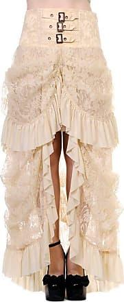 Banned Womens Asymmetric Skirt Beige Beige XXXXL - Beige - X-Large