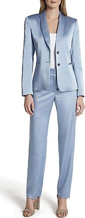 Kaerm Damen Anzug Set Langarm R/üschensaum Blazer mit Bleistifthose Slim Fit Hosenanzug Elegant Business Outfit f/ür Office