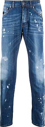 John Richmond Calça jeans slim com efeito destroyed - Azul
