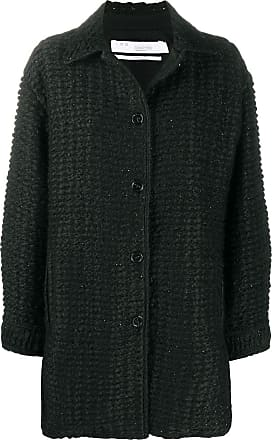 Iro woven textured short coat - Black