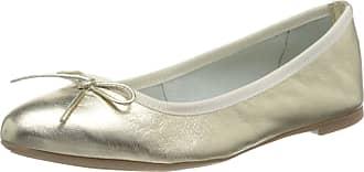 Marco Tozzi Womens 2-2-22121-24 Closed Toe Ballet Flats, Gold (Platinum 957), 6.5 UK