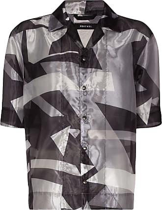 Nulabel Camisa translúcida com estampa gráfica - Cinza
