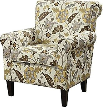 Coaster Fine Furniture Flower Pattern Accent Chair Cream and Cappuccino