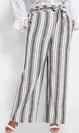 ad96902631d9d Ashley Stewart Plus Size Striped Drawstring Linen Pant