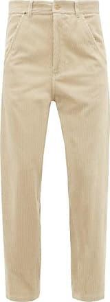 Haider Ackermann Docker Straight-leg Corduroy Trousers - Womens - Beige