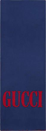 Gucci Cachecol jacquard com logo - Azul