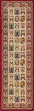 Well Woven 36502L Timeless Cordelia Garden Traditional Abstract Tile Work Red Rug 27 x 12 Runner