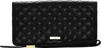 8f757fbf5112d Stella Maris Damen STMW3-01 Clutch Diamant Geldbörse Geldbeutel  Portemonnaie aus gestepptem Leder schwarz B