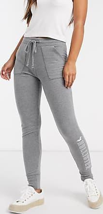 Hollister logo fleece legging in medium grey