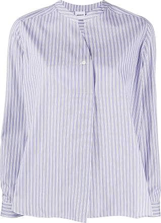 Aspesi Camisa gola padre com listras - Azul