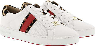 Michael Kors Irving Stripe Lace Up Sneakers Optic White/Natural