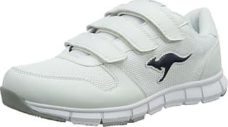 Kangaroos Kangaroos K-bluerun 701 B, Unisex Adults Low-Top Sneakers, White - Weiß (white/dk Navy 042), 10.5 UK (45 EU)