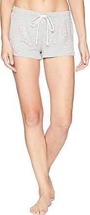 PJ Salvage Womens Printed Lounge Pajama Short, Embroidered heathergrey, Large