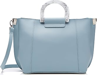 1631a14a09 New Look Womens Mable Marble Top-Handle Bag Blue (Light Blue)