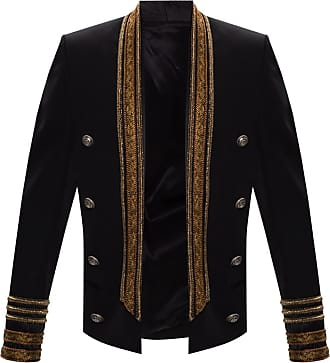 Balmain Lurex Blazer Mens Black
