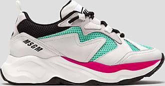 Msgm attack sneakers color turquoise blue