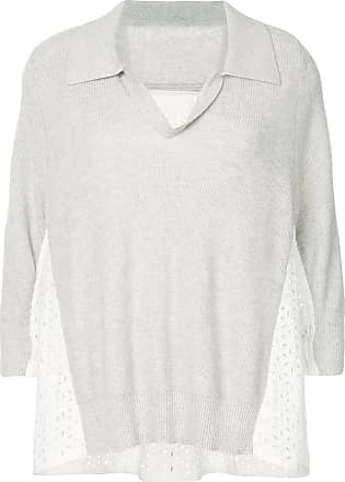 Onefifteen lace panel jumper - Grey