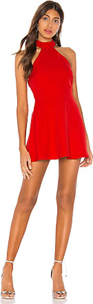 Superdown Sela Halter Mini Dress in Red