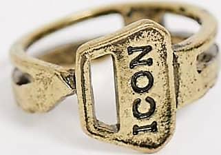Icon Brand Anello a fascia bronzo a chiave-Oro