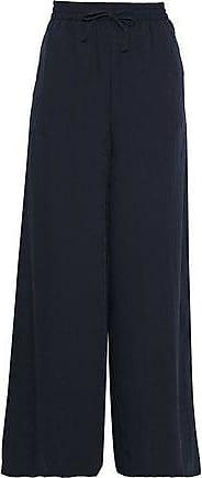 Onia Onia Woman Chloe Jacquard Wide-leg Pants Midnight Blue Size XS