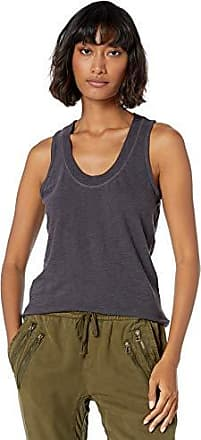 Monrow Womens Cropped Active Top Granite Extra Small