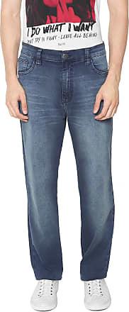 Ellus Calça Jeans Ellus Reta Elastic Azul