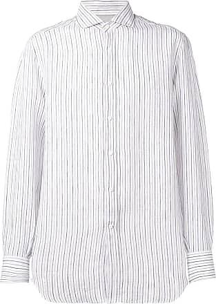 Brunello Cucinelli Camisa listrada - Branco