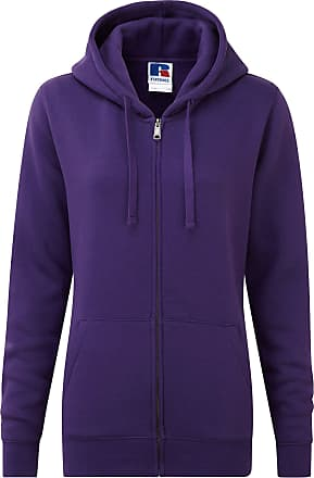 Russell Athletic Russell Ladies Premium Authentic Zipped Hoodie (3-Layer Fabric) (XS) (Purple)