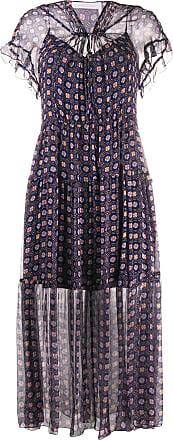 See By Chloé Vestido longo com estampa geométrica - Azul
