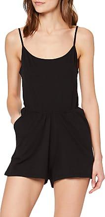 Urban Classics Womens Ladies Short Spaghetti Jumpsuit, Black (Black 7), XL