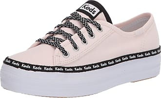 Keds Kids Girls Triple Kick Sneaker, Logo Mania, 11.5 Little Kid M