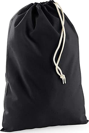 Westford Mill Cotton Drawstring Bags | Home Storage/Organisation | Black | Various Sizes (XL)