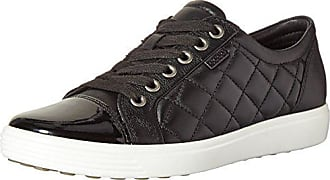 395fc685ba5 Ecco Womens Womens Soft 7 Quilted Tie Fashion Sneaker Black