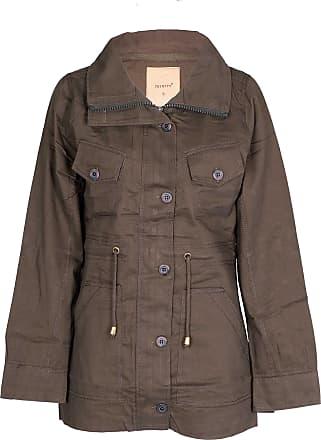 Noroze Womens Hooded Military Style Summer Coat Jacket (Khaki 2, M)