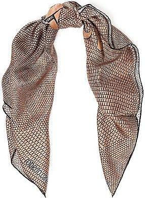 Roberto Cavalli Roberto Cavalli Woman Printed Silk-twill Scarf Sand Size