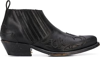 Golden Goose Ankle boot cowboy - A1 BLACK LEATHER
