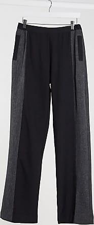 Unique21 Unique21 contrast panel suit trousers in black & grey