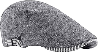 Zhhlaixing Cotton Blend Classic Flat Berets Cap Newsboy Hats - Men Boys Casual Driving Hat with Buckle Adjustable Black