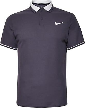 Nike Nikecourt Advantage Dri-fit Tennis Polo Shirt - Gray