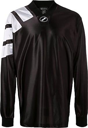 We11done Blusa de jersey estampada - Preto