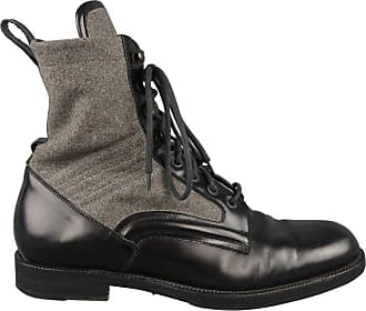 0dad5db0ff3 Jimmy Choo London Boots - Mens Size 8.5 Black   Grey Wool   Leather Combat