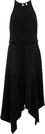 Halston Heritage Halston Heritage Woman Asymmetric Cutout Stretch-crepe Dress Black Size 14