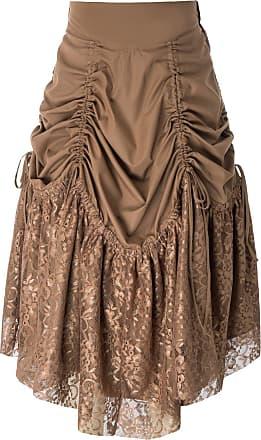 Belle Poque Steampunk Clothes for Women Gothic Amelia Lolita Gypsy Hippie Skirt Brown